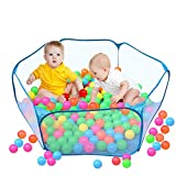 Canaloha CPT002 Kids Tent Ball Pit Pool Playpen Pop up Design, Blue