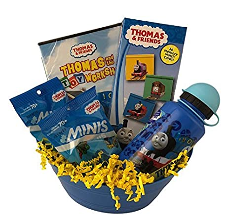 Amazon thomas friends train easter gift basket toy workshop dvd thomas friends train easter gift basket toy workshop dvd water bottle game mystery minis negle Image collections