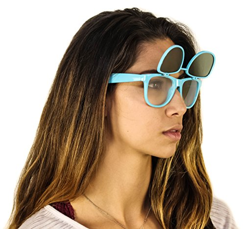 Ultra Diffraction Glasses with Flip Up Tinted Lenses - EDMPlug