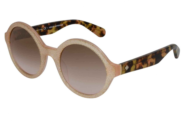 455da324d9e Sunglasses Kate Spade Khrista S 0S2E WI Pink Gold Glitter Brown Gradient at  Amazon Men s Clothing store