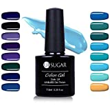 UR SUGAR 7.5ml Gel Nail Polish UV LED Blue Series Purple Dark Green Pure Color Soak Off Nail Art Lacquer Manicure Starter Kit 16 Bottles Collection