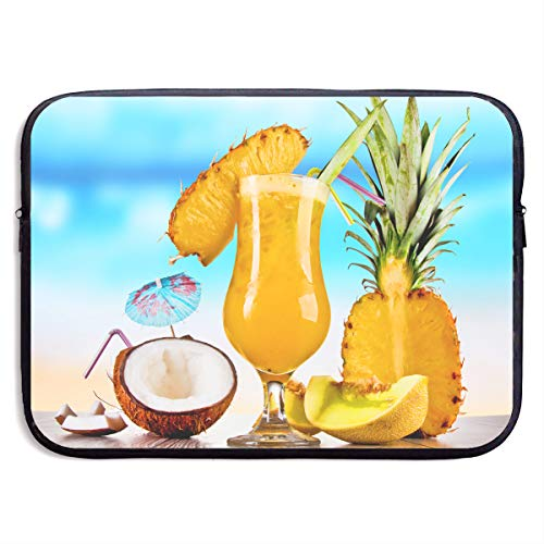 Pineapple Coconut Melon Wine Laptop Sleeve Notebook Computer Pocket Case/Tablet Briefcase Carrying Bag MacBook Bag for Acer/Asus/Dell - 13-15 Inch ()