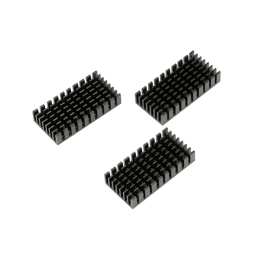 DIYElectronic 20 pcs 502510mm Approximately Heatsink Radiator Cooler Cooling Fin Aluminum Heat Sink Black 50x25x10mm