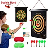 Safety Magnetic Dart Board for Kids Teens, Indoor Outdoor Double Sided Dartboard Bullseye Games Set for Boys Teenager Adults Family Carnival Birthday Party Games Leisure Sports