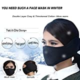 KIVETAI Half Face Mask Mouth Masks with Earmuffs