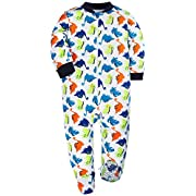 YXD Footed Baby Girls Non-Slipping Sole Pajamas 100% Cotton Blanket Sleeper Pajamas Set Printing Dinosaur (0-3Months)