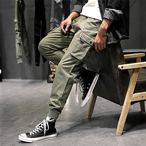 Décontracté Confortable Jeans Loisirs Hommes poche Coton couture Verte Elastique Armée Nice Homme Pantalon Bande Les Kpilp outillage wEzdWqYRR