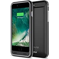 iPhone 8 Battery Case, iPhone 7 Battery Case , ZVOLTZ iPhone Charger For Apple iPhone 8/7 [Apple MFI Certified] Protective 3100mAh Battery Pack Juice Power Case iPhone 8/7 Charging Case - [Black/Grey]