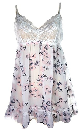 Hanky Panky Women's Floral Chiffon Babydoll with G-String, Multi, Large