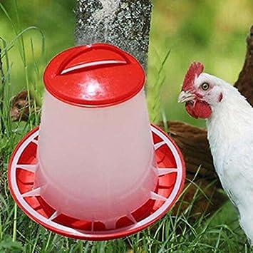 Aprettysunny Pollo plástico Codorniz Aves de Corral Chick Bebedero de gallinas Alimentador de Alimentos Waterer Pet Supply: Amazon.es: Productos para ...
