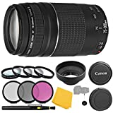 Canon EF 75-300mm f/4-5.6 III Lens + 3 Piece Filter Set + 4 Piece Close Up Macro Filters + Lens Cleaning Pen + Pro Accessory Bundle - 75-300mm III: International Version (No Warranty)