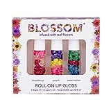 Blossom Roll-On LIP GLOSS Set of 3-0.3oz/8.9ml/each