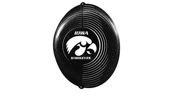 SWEN Products IOWA IU HAWKEYE/'S HAWKEYE BLACK Swirly COMBO Metal Wind Spinner