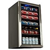 EdgeStar BWC120SSLT 103 Can and 5 Bottle Freestanding Ultra Low Temp Beverage Cooler