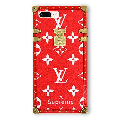 Gucci Louis Vuitton - iPhone8 Plus Case, iPhone7 Plus Case, Qiker Fashion Shock Protection Raised Lip Protection Case for iPhone7/8 Plus