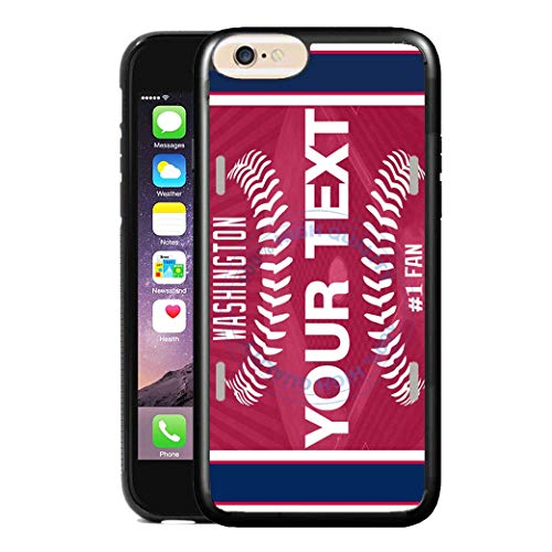 (BRGiftShop Personalize Your Own Baseball Team Washington Rubber Phone Case For Apple iPhone 6 Plus & iPhone 6s Plus 5.5 Inches Screen)