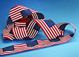 Flag Pattern Cotton Bunting - 8'' x 12'' x 24' Repeating