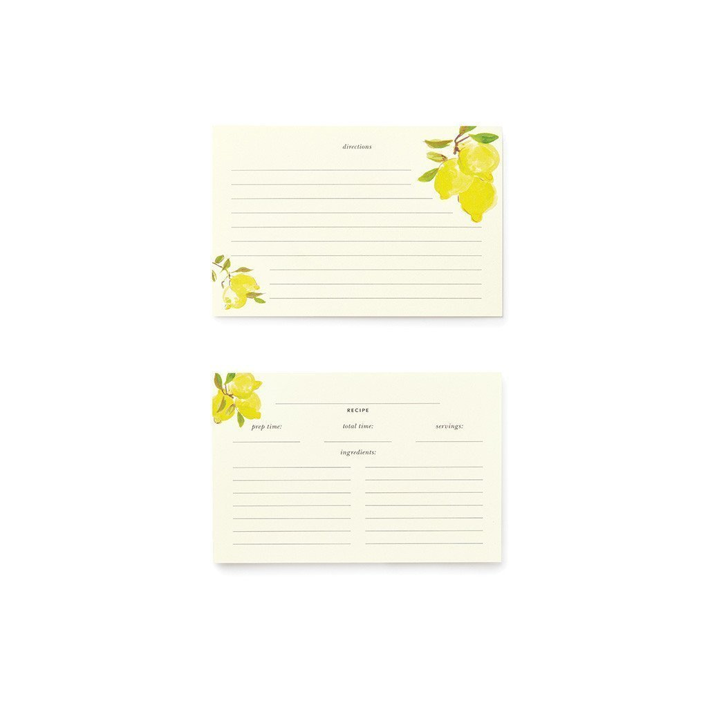 Kate Spade New York Recipe Card Set of 40 (Lemons) COMIN18JU089341