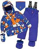 Deux par Deux Little Boys' 2-Piece Snowsuit Mechant Look Blue, Sizes 18-36M - 24M