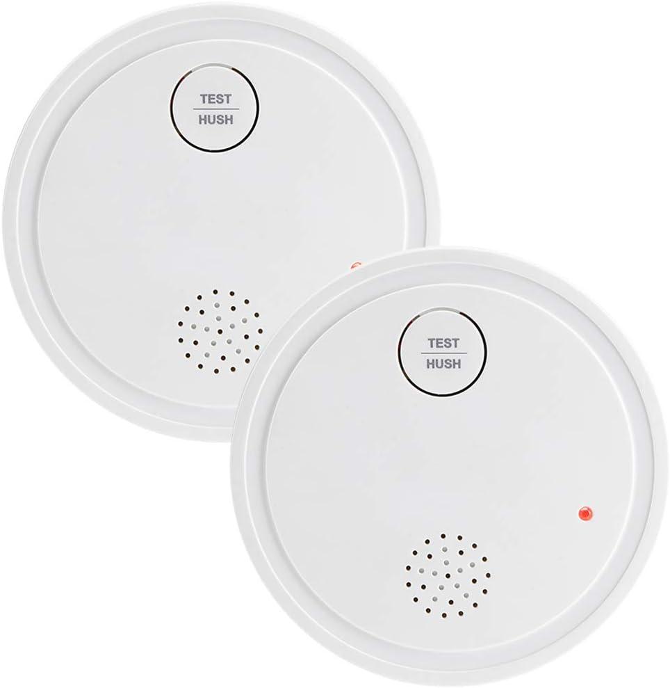 Semoss 3 Piezas Smart Detector de Humo Sin Cableado 10 A/ños Bater/ía Fotoelectrico Alarma de Sensor de Incendio,CE EN 14604,Dise/ño Anti Insectos,Bot/ón de Silencio,85dB,Indicador LED