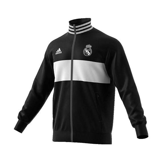 b796a68d99f7f adidas Chaqueta Real Madrid 3S 2018-2019 Black-Core White  Amazon.es