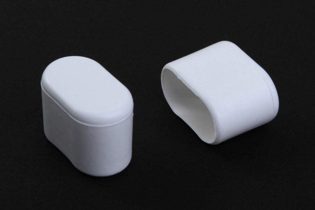 Young schwinn DESIGN - Taco protector para pata de silla (4 unidades, 30 x 15 mm (medidas internas), de plástico, color blanco)