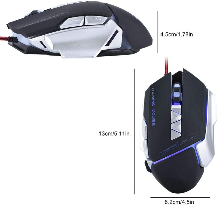 Diyeeni G810 2.4G Wire Mouse 2400//1600//1200//800 DPI Rechargeable Silent Mouse