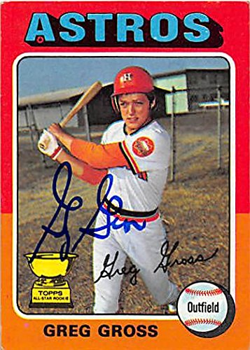 Autograph 122502 Houston Astros 1975 Topps All Star Rookie Cup No. 334 Greg Gross Autographed Baseball Card