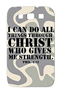 Philippians 413 Black For Sumsang Galaxy S3 Miscellaneous Verse Train Do All Things Christ Sports Athletics Bible Protective Hard Case