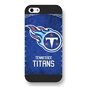 Onelee Customized NFL Series Case for iPhone 5 5S, NFL Team Tennessee Titans Logo iPhone 5 5S Case, Only Fit for Apple iPhone 5 5S (Black Frosted Shell)