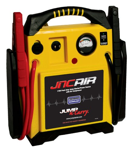 - Clore Automotive Jump-N-Carry JNCAIR 1700 Peak Amp Jump Starter with Air Compressor