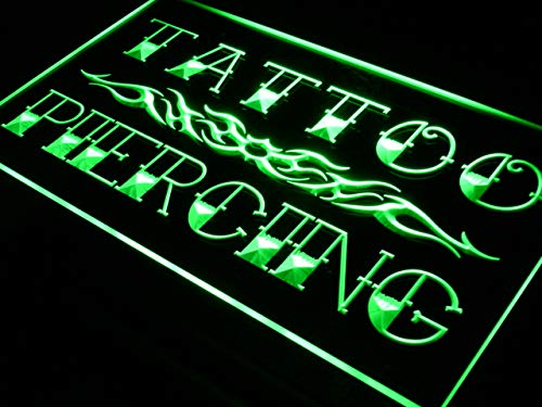 ADVPRO Cartel Luminoso i559-g Tattoo Piercing Miami Ink Shop ...