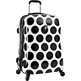 Heys America Unisex Spotlight 26' Spinner Black/White Luggage