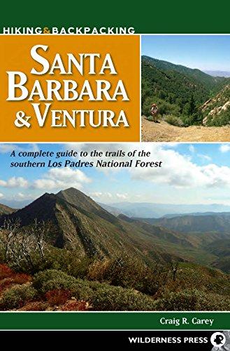 Los Padres National Forest Map - Hiking and Backpacking Santa Barbara and Ventura