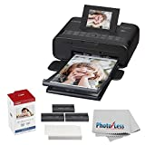 Canon SELPHY CP1200 Wireless Compact Photo Printer with KP-108IN Photo Paper & Ink Kit (Black) + Photo4Less Cleaning Cloth - Ultimate Dye-Sub Printer Bundle