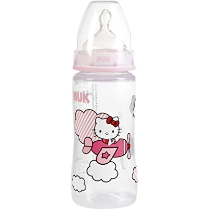 Nuk, Biberón - fase 2 - Hello Kitty - 300ml: Amazon.es: Bebé