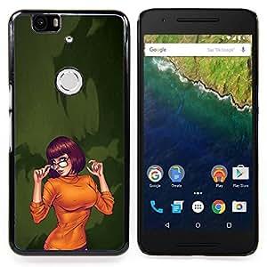 - sexy orange Halloween character cartoon - - Modelo de la piel protectora de la cubierta del caso FOR Huawei Nexus 6P RetroCandy