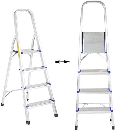 XSJZ Escalera Ascendente, Pedal de 4 Pasos Casa Plegable Escalera de Espiga Interior Portátil Escalera Multifunción Engrosamiento Escalera de Pedal Telescópica Escalera Plegable: Amazon.es: Hogar