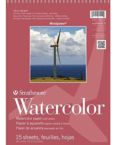 (Strathmore 640-6-1 STR-640-6 15 Sheet Wind Power Watercolor Pad, 6 by 9