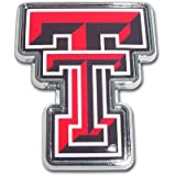 "Texas Tech University Red Raiders ""Color TT"" Chrome Plated Premium Metal NCAA College Car Truck Motorcycle Emblem"