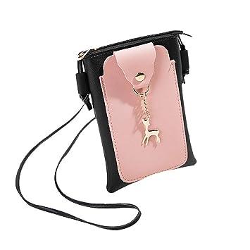 d569818909 PU Cuir Mini Pochette Case/Housse/Portefeuille/Sac Téléphone/Bandoulière  Sac à