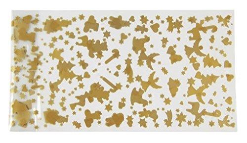 "Zenker 43460 Foil Present Bags""Patisserie"" With Clips Xmas (16 Piece), Transparent/Gold"