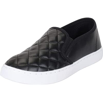 Cambridge Select Women's Low Top Closed Round Toe Quilted Stretch Slip-On Fashion Sneaker | Shoes