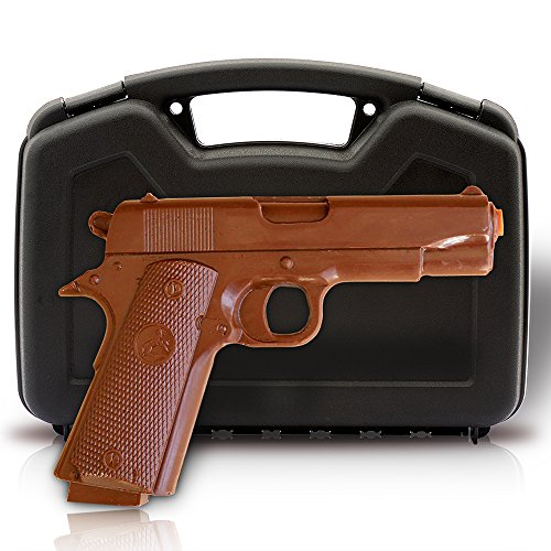 Chocolate Gun - Full Size Solid Chocolate Pistol with Case