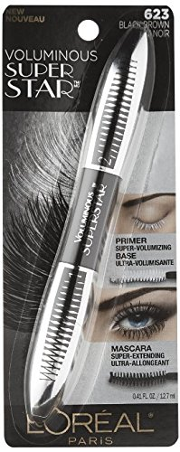 L'Oreal Paris Voluminous Superstar Mascara, 623 Black Brown,(Pack of 4) (Extending Mascara Loreal Lash Black)