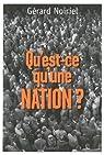 Qu'est-ce qu'une nation ? par Noiriel