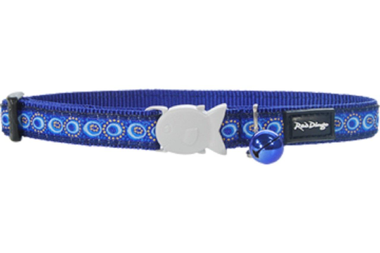 Red Dingo Designer Cat Collar Cosmos Dark bluee
