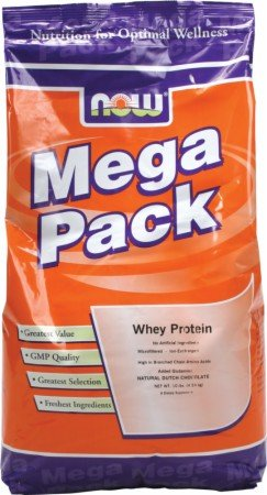 NOW Foods - Whey Protein Mega Pack Dutch Chocolate Flavor - 10 lbs.