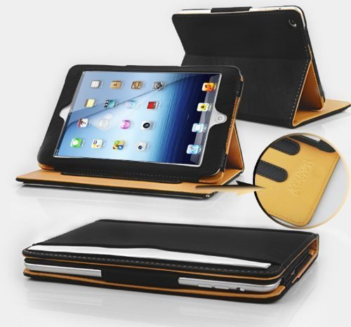Jellybean Black & Tan Leather Wallet Flip Case Cover for The