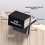 Woodraphic All New Dovetail Hand Magnetic Saw Guide Jig Marker Marking Gauge Cut Wood Joints - Aluminium/Uhmwpe/Magnet/Slicone Skin/Upgraded Version